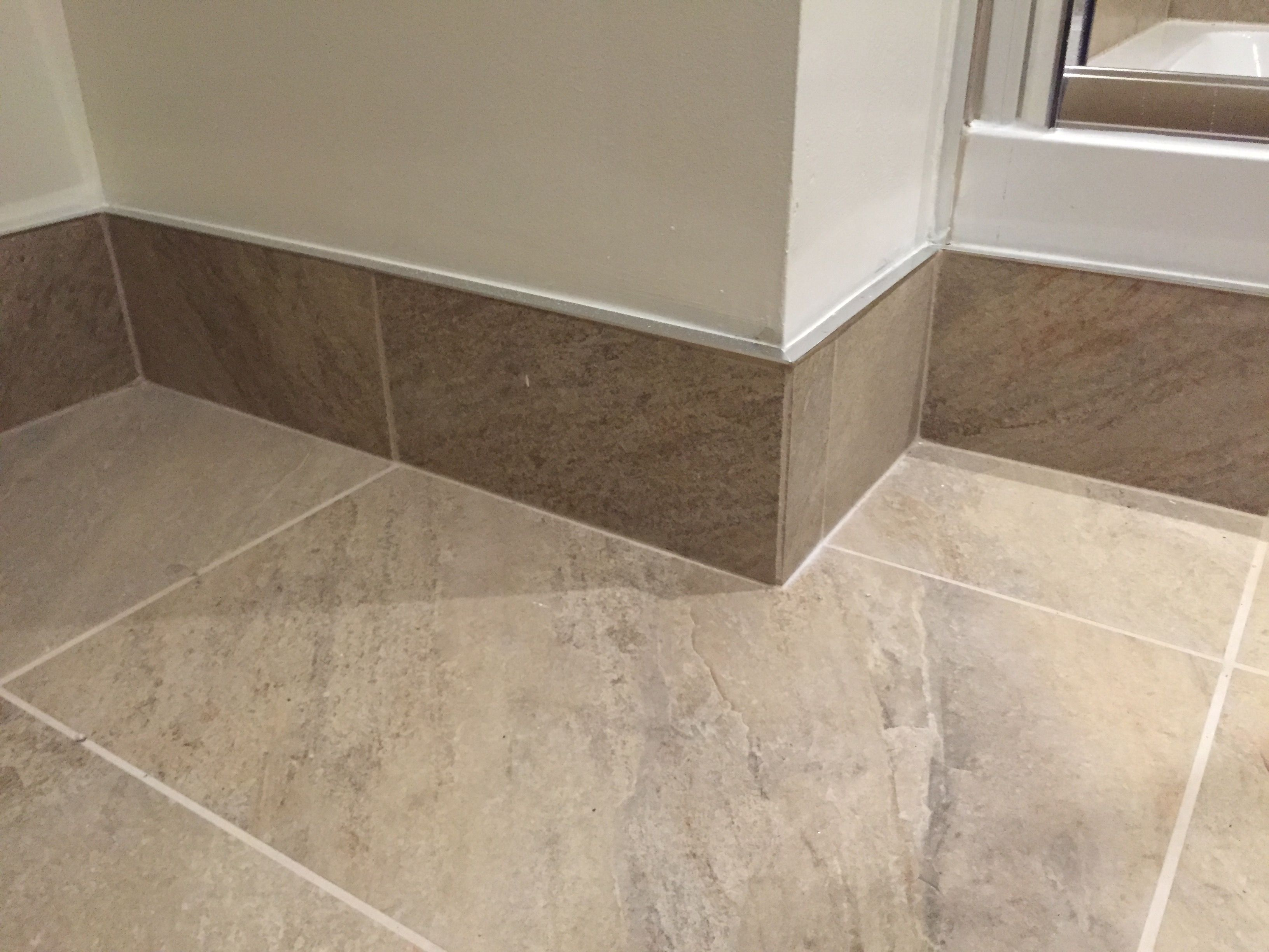Tiled skirting board with chrome trim  skirtings in 2019