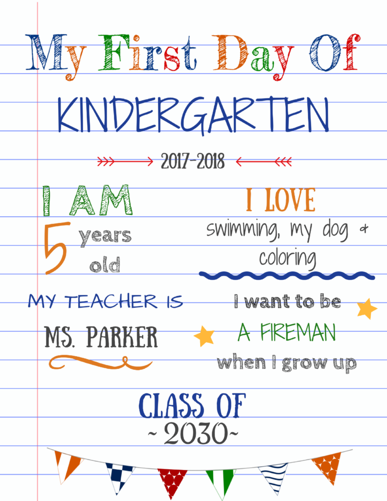 Editable First Day Of School Signs To Edit And Download For Free School Signs Kindergarten First Day First Day Of School Pictures