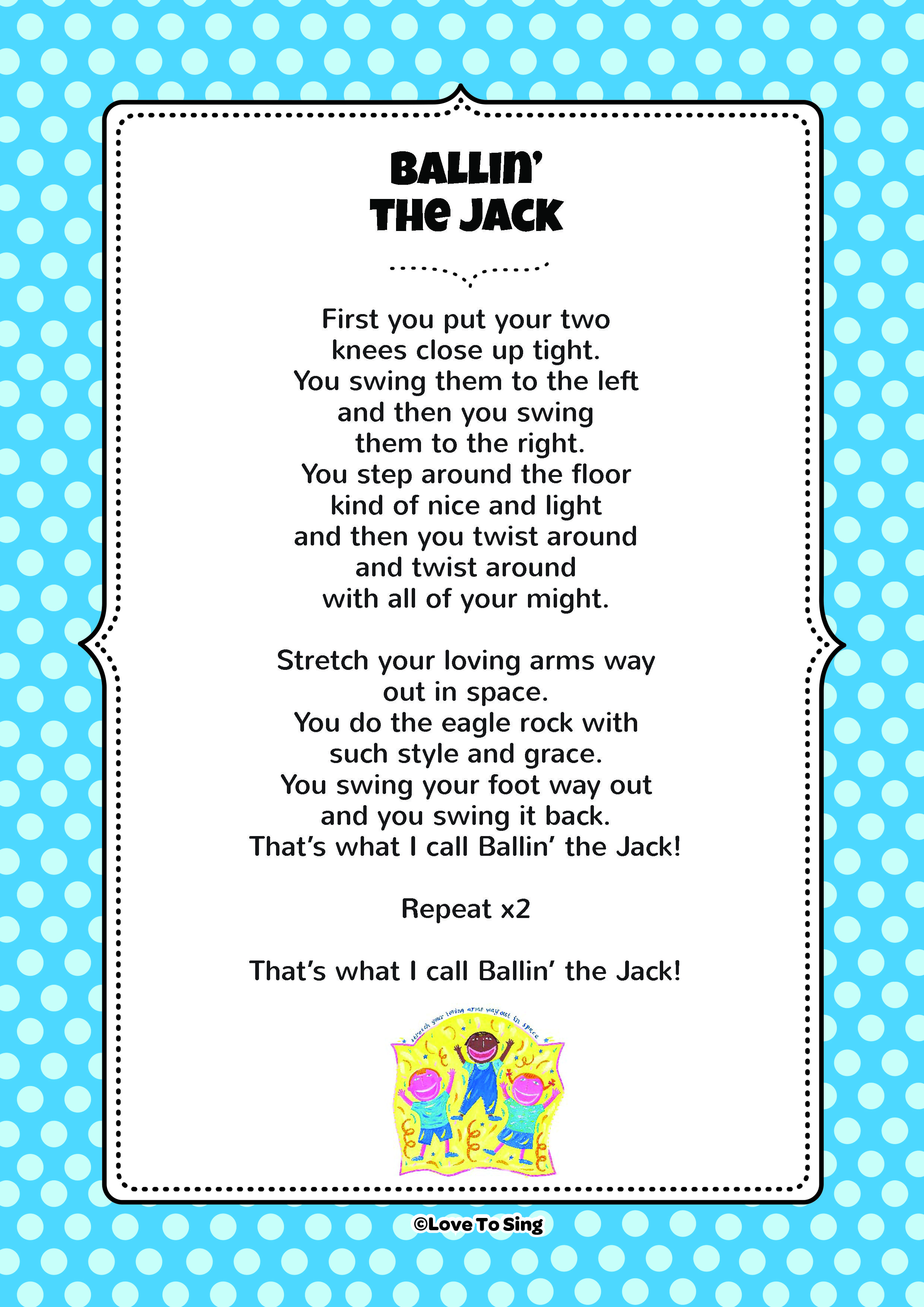 Ballin' the Jack Action Song Hello song for kids, Kids