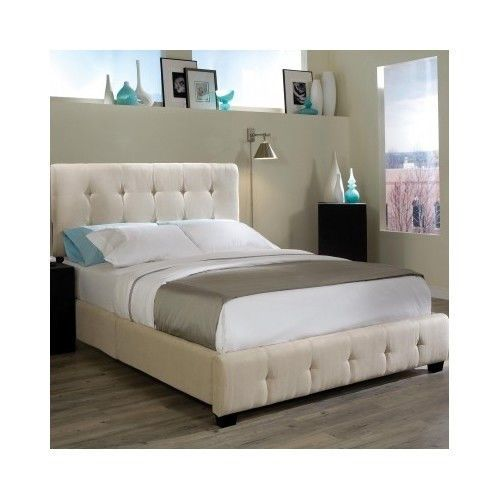 platform bed king size headboard upholstered modern frame furniture mattress set - Queen Bed Frame And Mattress Set