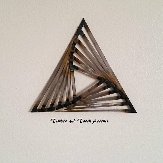 3d Metal Triangles Metal Wall Decor Welded Metal Art Geometric Abstract Manly Decor Modern Geom Metal Art Welded Metal Wall Decor Metal Walls