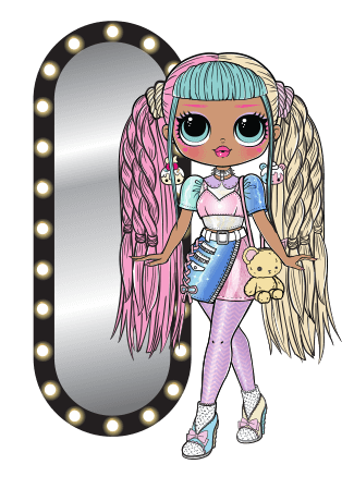 L O L Surprise O M G Candylicious Lol Dolls Girls Cartoon Art Cool Coloring Pages