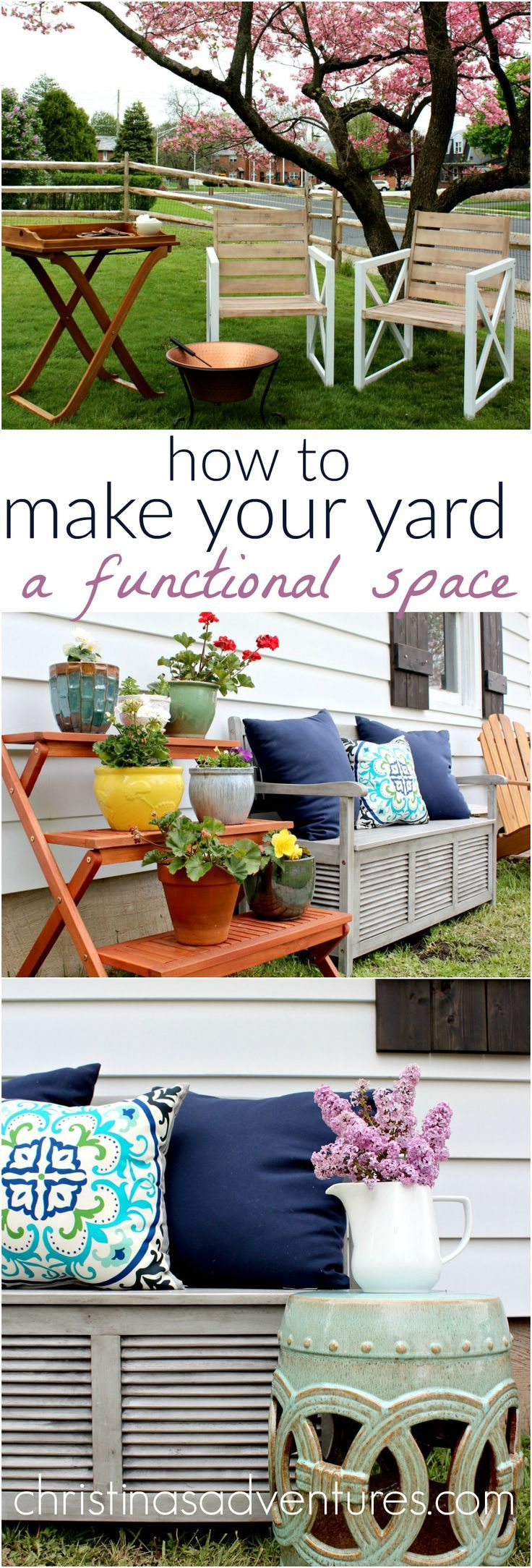 Simple & effective tips to make your yard a functional AND beautiful space - great ideas!