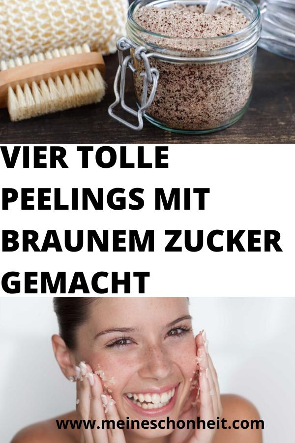 VIER TOLLE PEELINGS MIT BRAUNEM ZUCKER GEMACHT | Food