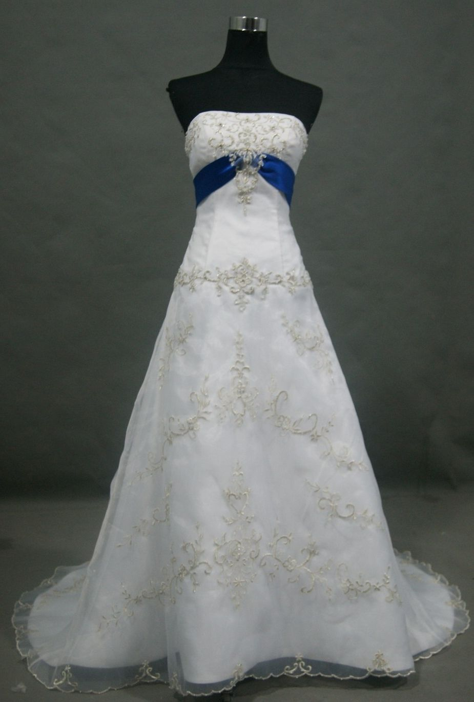 Wedding Gowns With Royal Blue Accents Blue Wedding Dress Royal Wedding Dress Blue Accent Blue Wedding Dresses