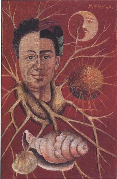 Diego and Frida, 1944 by Frida Kahlo. Naïve Art (Primitivism), Surrealism. portrait. Collection of Maria Felix Mexico City, Mexico