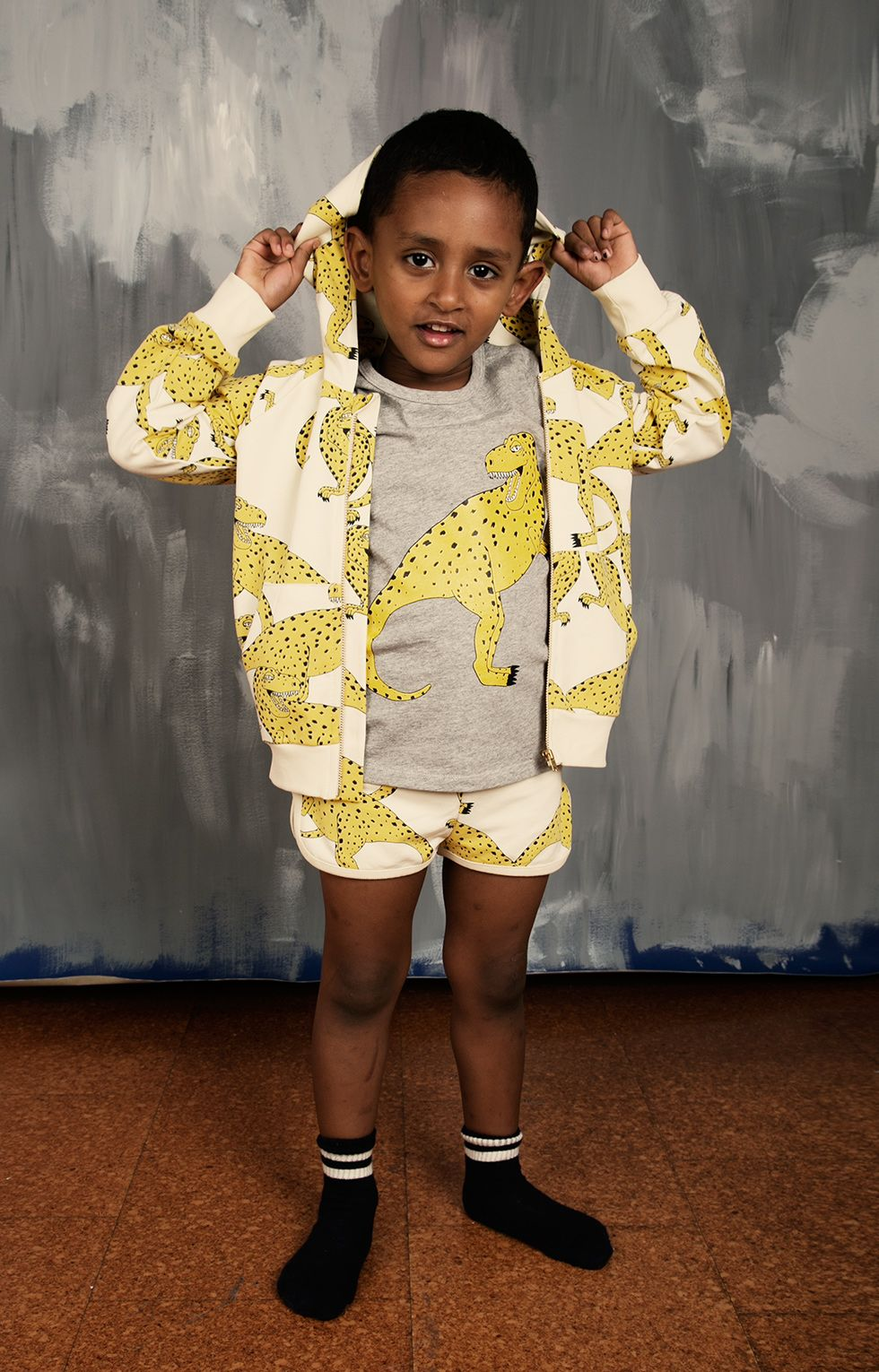 Black and yellow dress kids  minirodini SS collection
