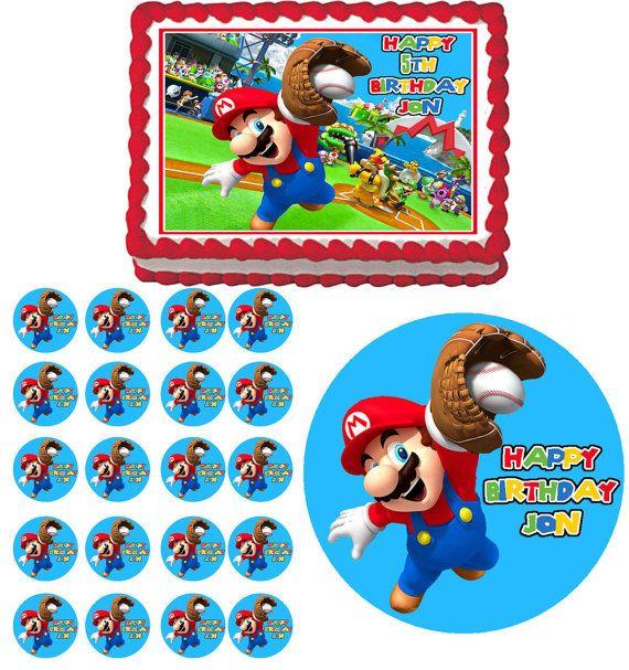 Mario Super Sluggers Baseball Birthday Party By Caketoppercottage