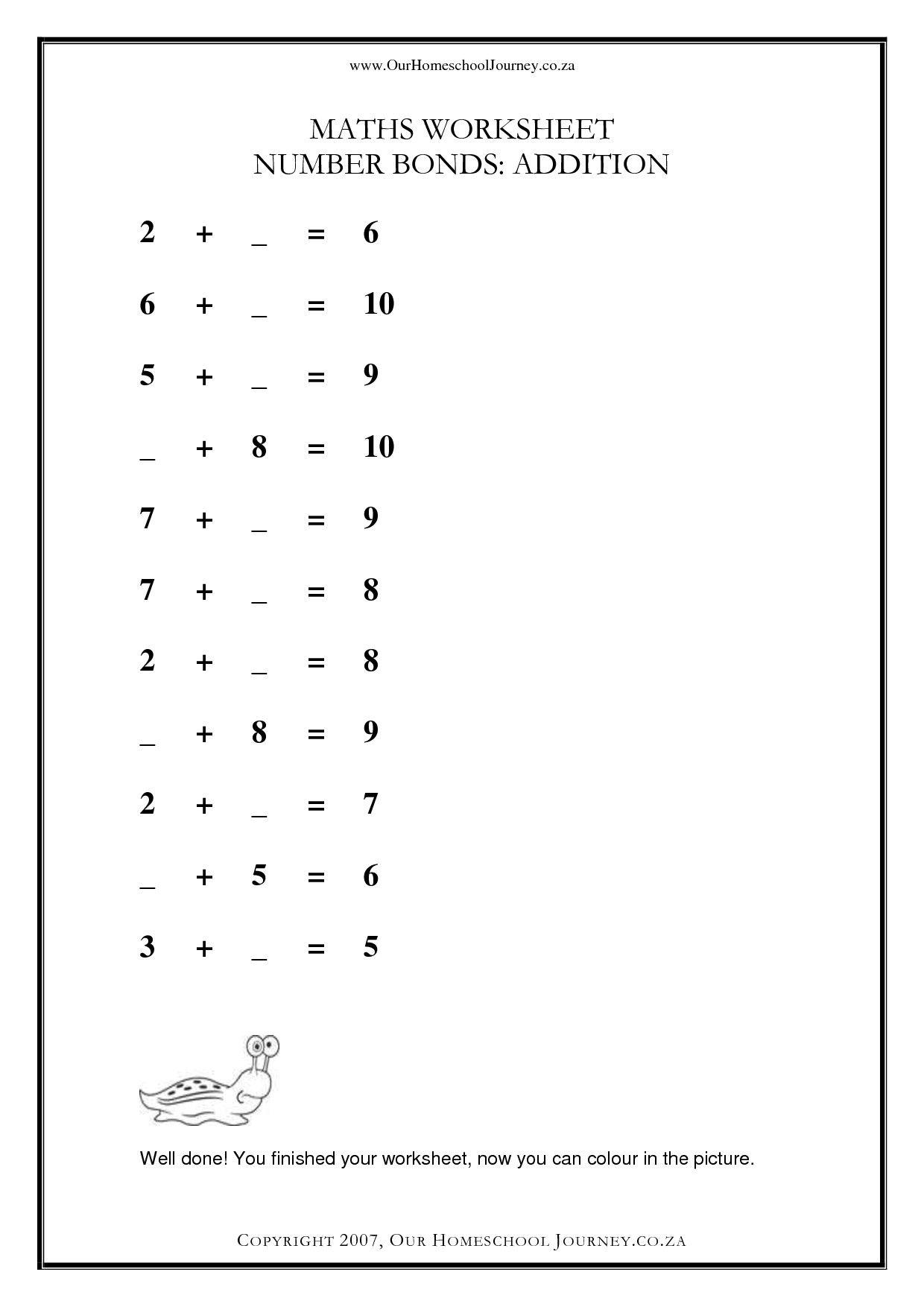 33 Innovative Number Bonds Worksheets Design With Images