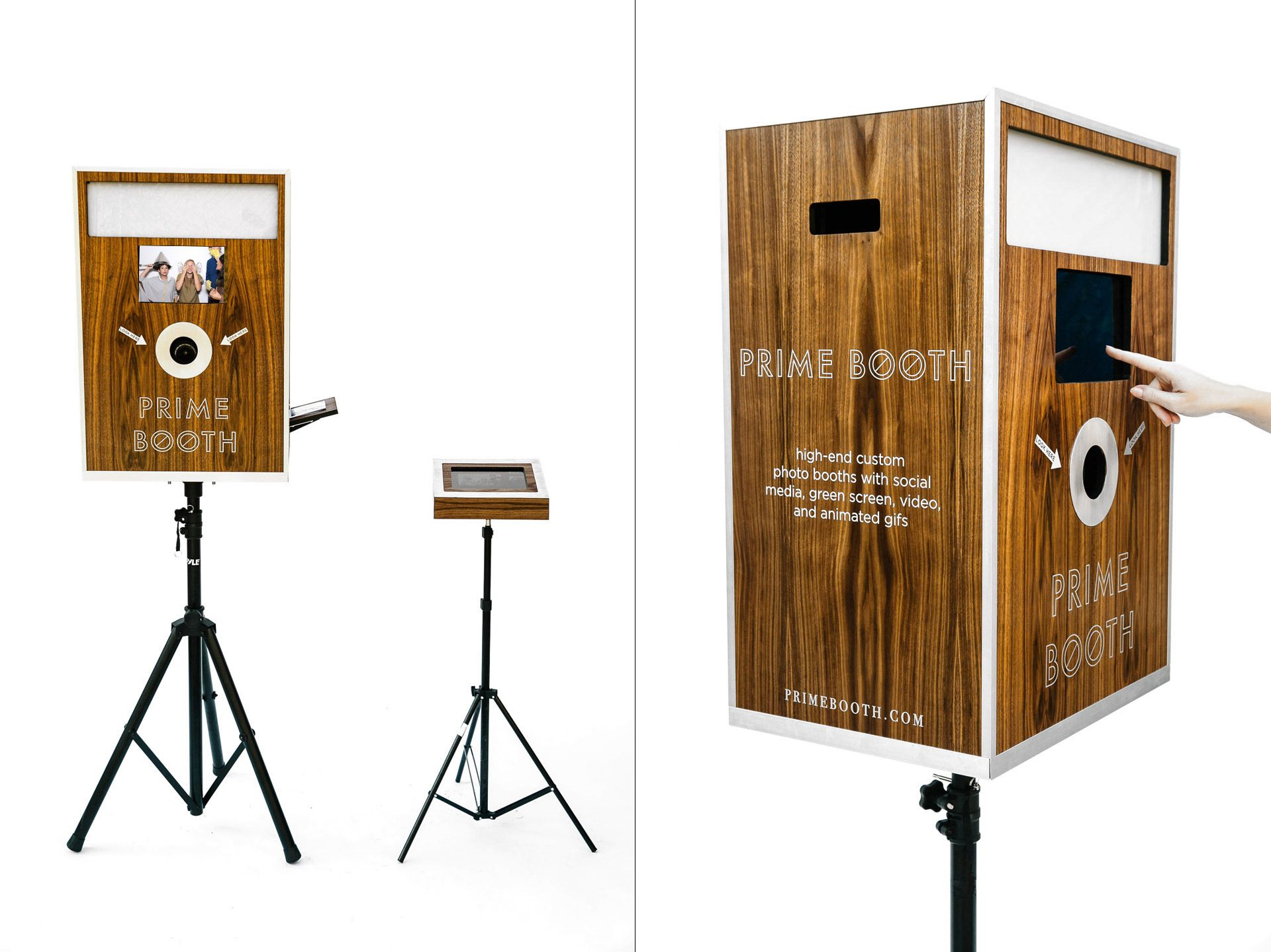 Custom Photo Booths Los Angeles - LA Photo Booth Rentals by Prime