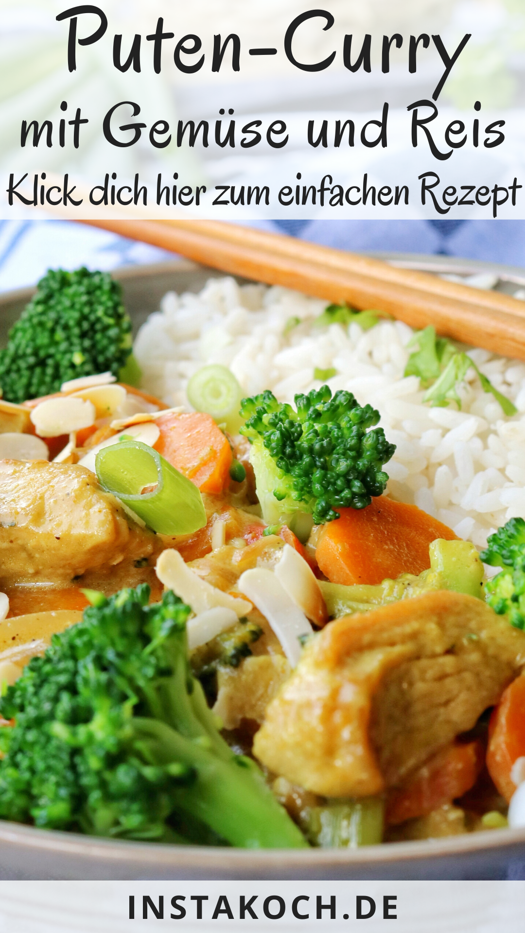 Photo of Turkey curry with broccoli, almonds and rice – click here for the delicious recipe