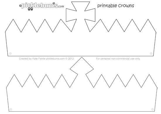 Make a crown free printable crown template starlight for Paper crown template for adults