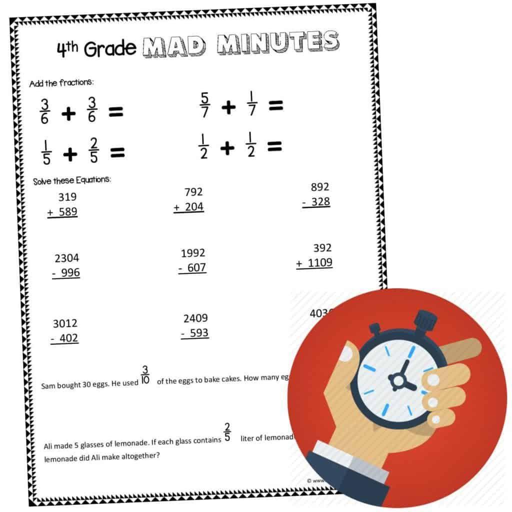 FREE 4th Grade Math Worksheets in 2020 4th grade math