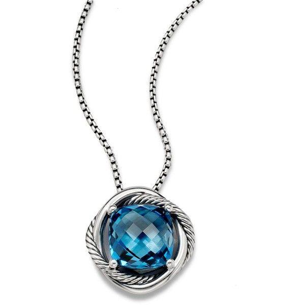 David yurman infinity medium pendant necklace with hampton blue david yurman infinity medium pendant necklace with hampton blue topaz 1050 liked on aloadofball Gallery