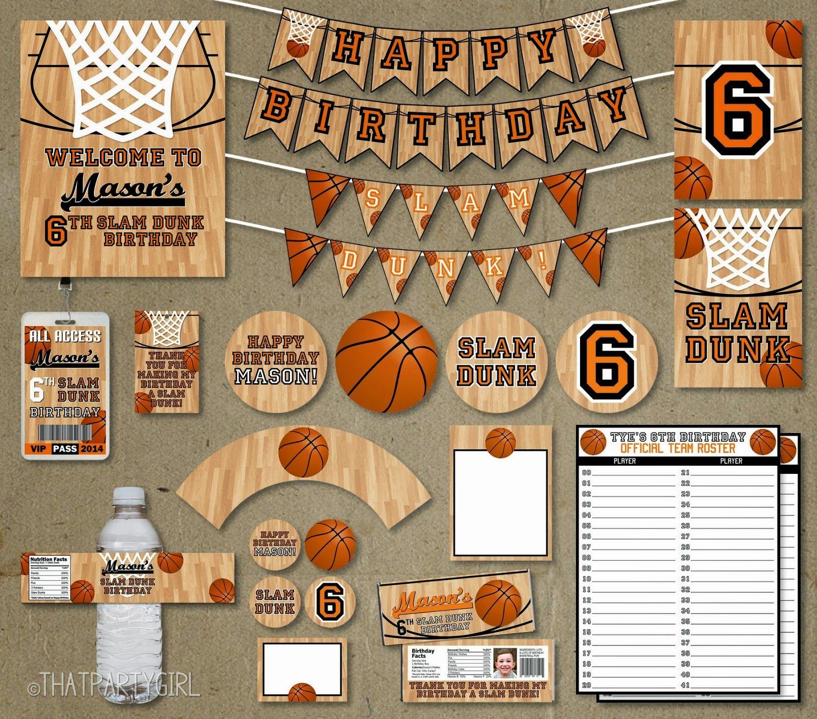 basketball birthday party birthdays pinterest anniversaire anniversaire garcon et diy. Black Bedroom Furniture Sets. Home Design Ideas