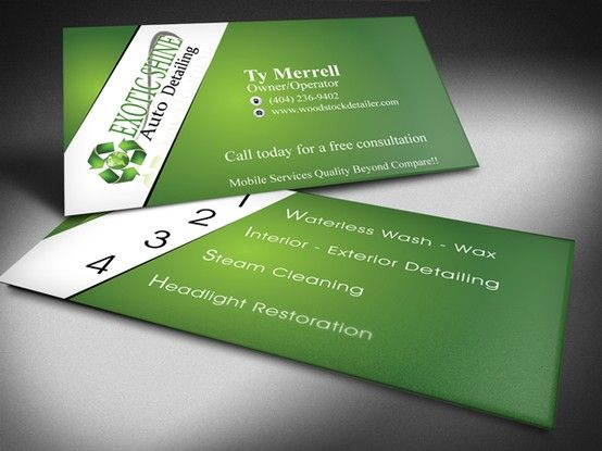 Business Card 1 Wash Wax Cards Business Cards