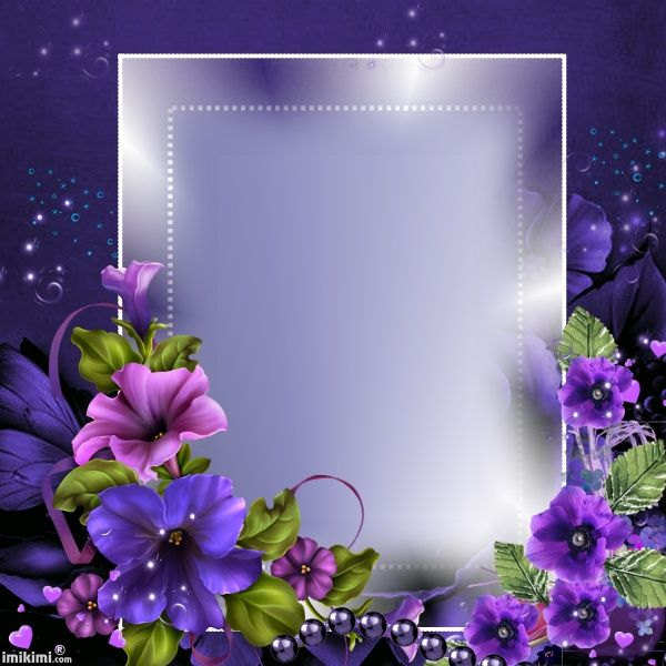 Purple Flowers Frame Picture Frame Decor Flower Frame Flower Background Wallpaper