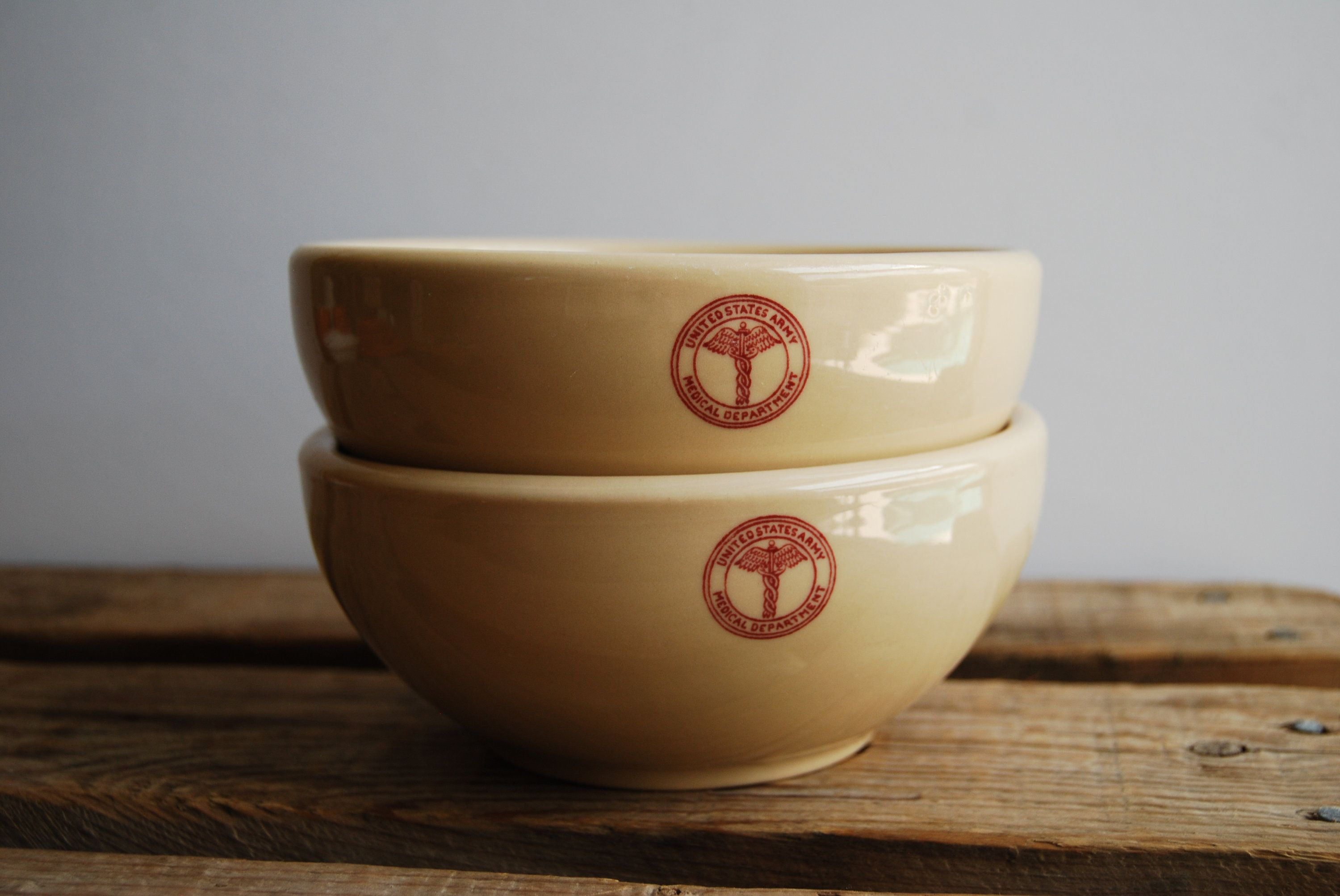 Military Bowls Rare UNITED STATES ARMY Medical Department Bowls