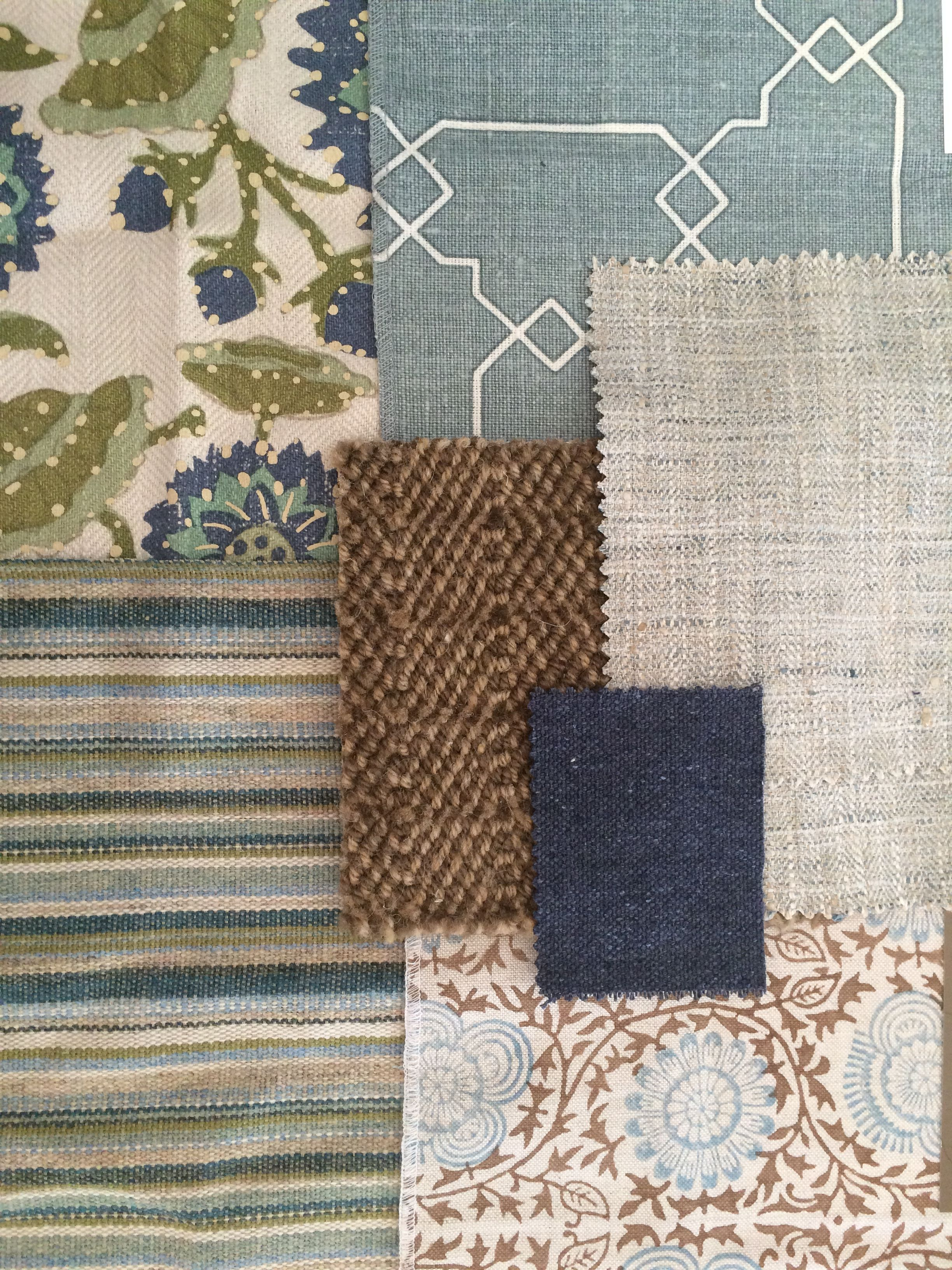 Artsandhomes Interior Design Fabric Combination Patterns Home Decor Blue And Green Cowtan Tout Peter Fasano Kerry Joyce Karastan