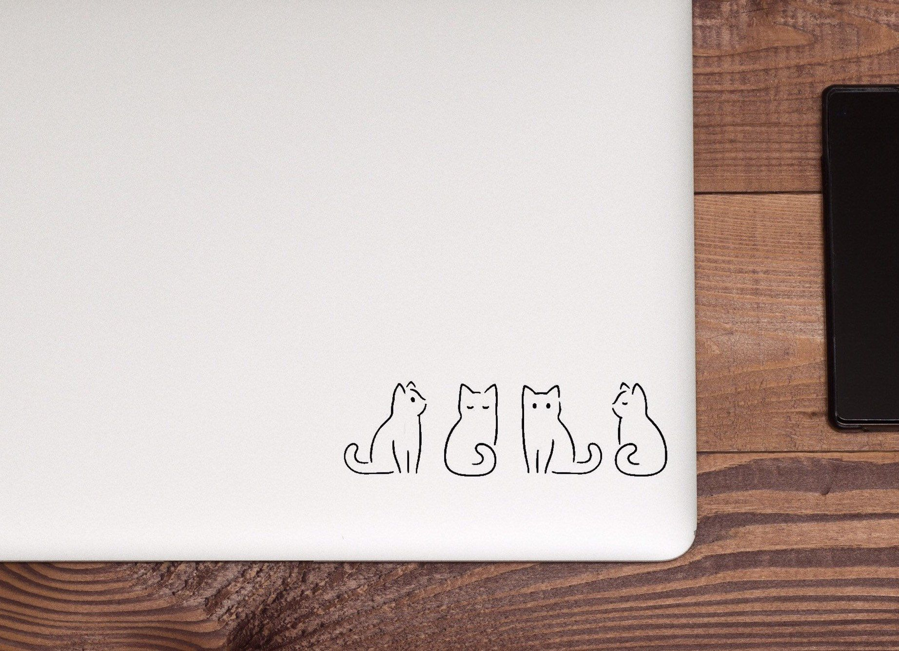 A Vinyl Decal With Some Very Small Cats Cat Lover Car Decal Etsy In 2021 Vinyl Decals Vinyl Sticker Laptop Stickers [ 1335 x 1844 Pixel ]