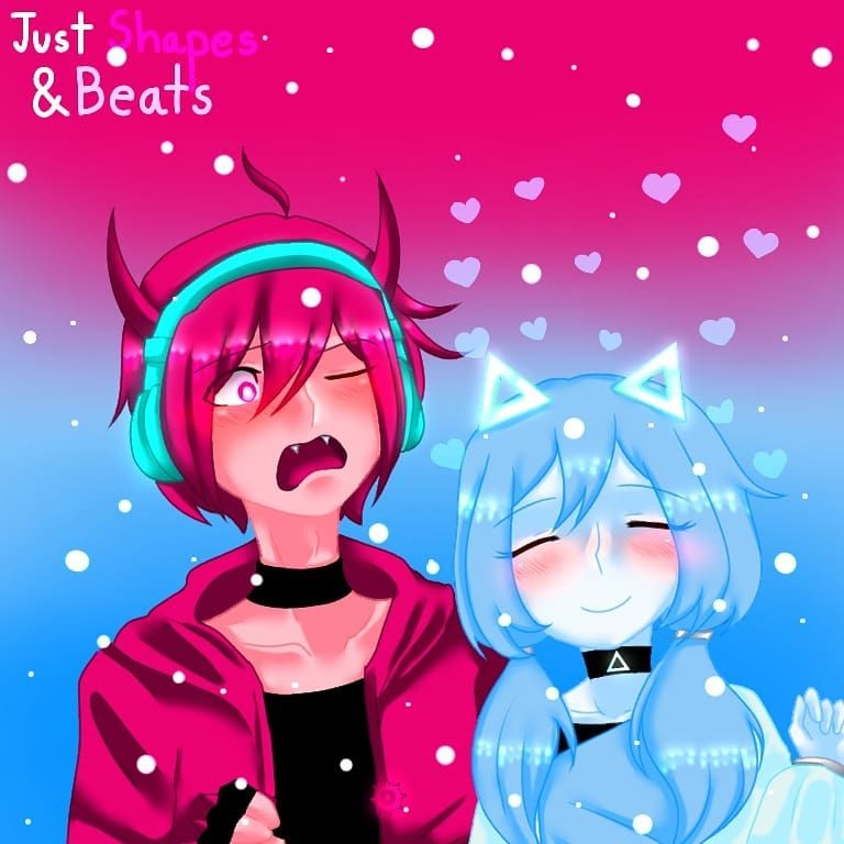 Just Shapes Beats Humanver By Me Dibujos Anime Bonito Anime