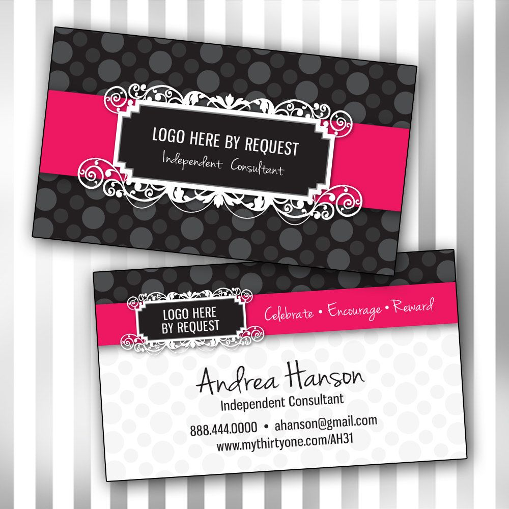 Custom Consultant Double Sided Business Card By Sweetmaggies - Front and back business card template