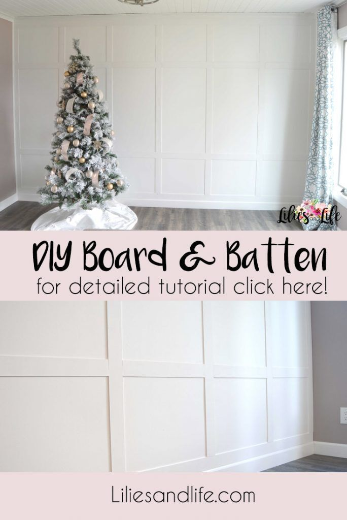 DIY Board and Batten Accent Wall Tutorial #boardandbattenwall DIY Board and Batten Accent Wall Tutorial A detailed tutorial on how to create your own DIY Board and Batten wall using MDF sheet material, liquid nails, painters tape, and caulk! - DIY Board and Batten Accent Wall with full step by step tutorial and supplies list. Accent wall, dining room design, living room design, and wall ideas. #accentwall #boardandbatten #tutorial #remodel #travelgram #instahome #interior #home #homedecoration #