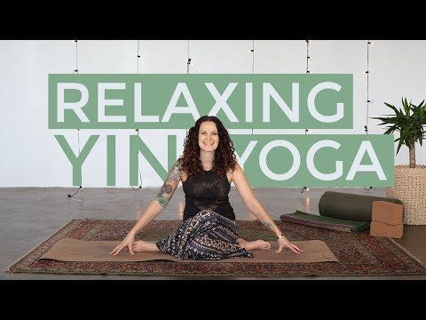 this 35minute yin yoga practice will open shoulders and