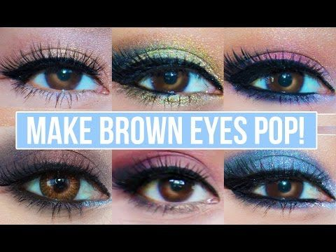 Makeup That Makes Brown Eyes Pop Eyeshadow Tutorials Looks For Girls With Dark Eye Color Ho Brown Eyes Pop Smokey Eye Makeup Tutorial Eyeshadow For Blue Eyes