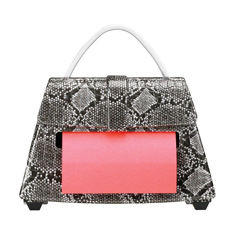 Post It Pop Up Notes Dispenser For 3 X 3 Inch Notes Snakeskin Purse