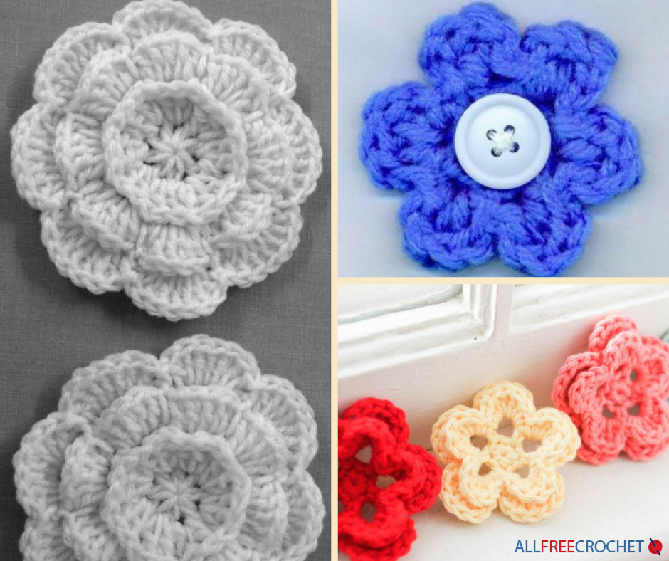 How To Crochet Flowers 3 Easy Crochet Flower Patterns Crochet