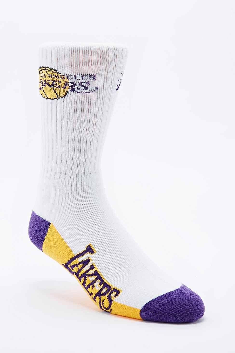 NBA LA Lakers Team Socks - Urban Outfitters b89e66a78