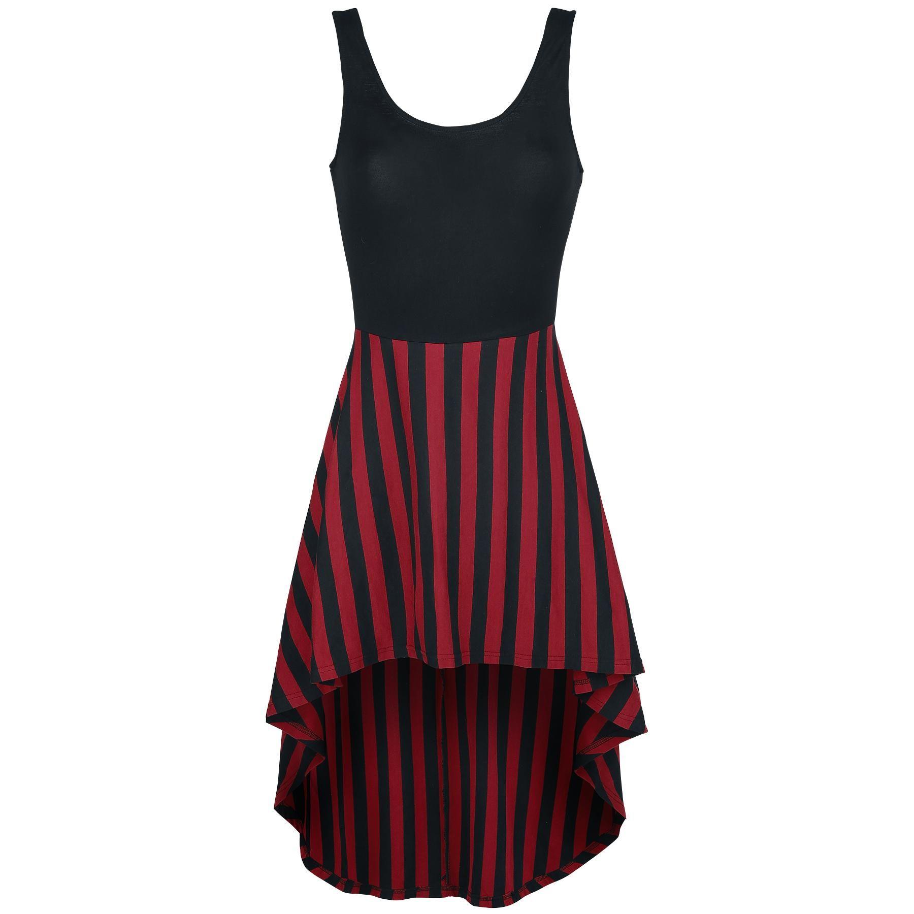 Vokuhila Stripe Dress - Mittellanges Kleid von Gothicana by EMP ... 384f525a5c