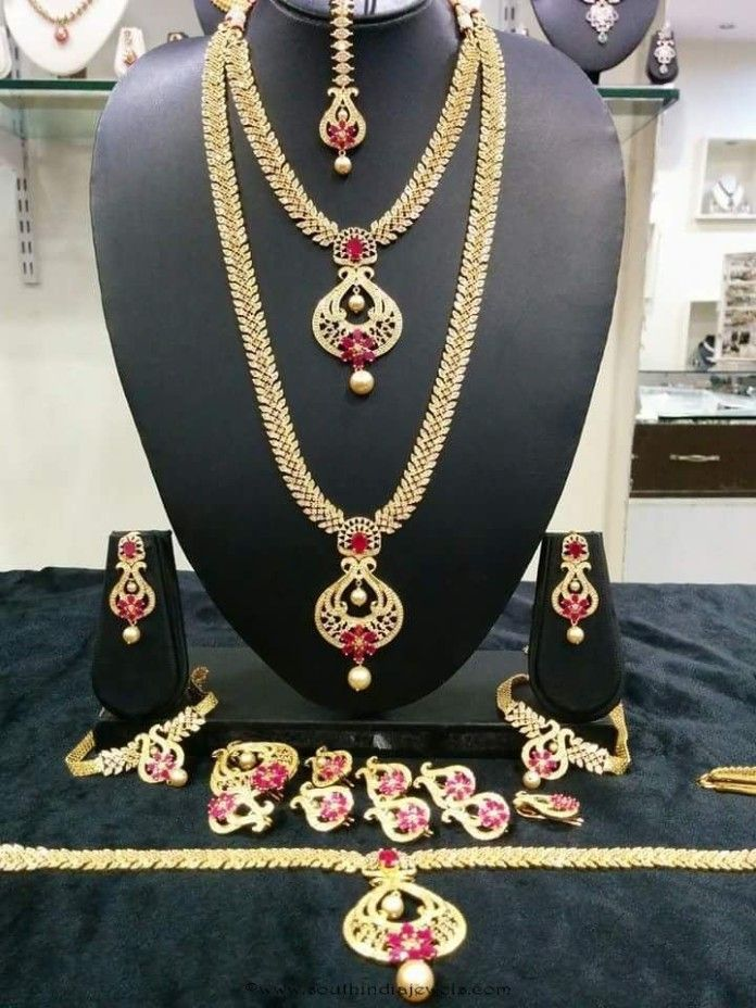 December 2015 Page 11 Of 22 South India Jewels Wedding Jewelry Sets Bridal Jewellery Indian Brides Jewelry Gold Jewellery Design Necklaces