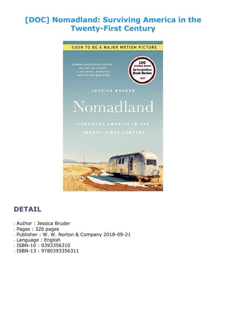Nomadland Surviving America In The Twenty First Century In 2020 Motion Picture The Twenties America