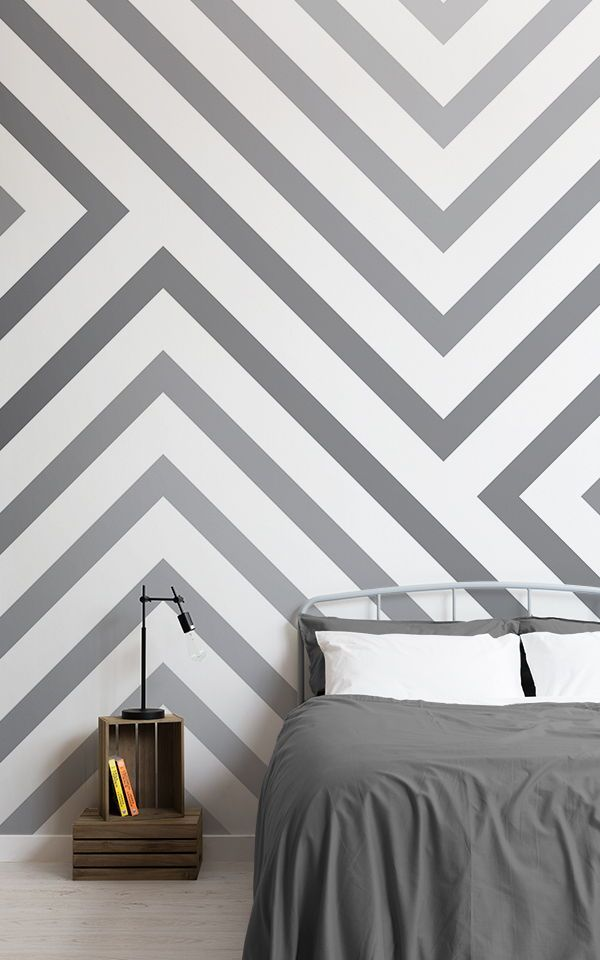 Cypress Grey Striped Wallpaper Mural Murals Wallpaper In 2020 Bedroom Wall Designs Bedroom Wall Paint Wallpaper Bedroom