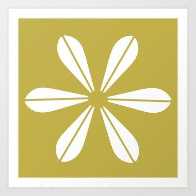 LOTUS MINIMAL - olive. Art Print by The Bearded Bird. - $14.00
