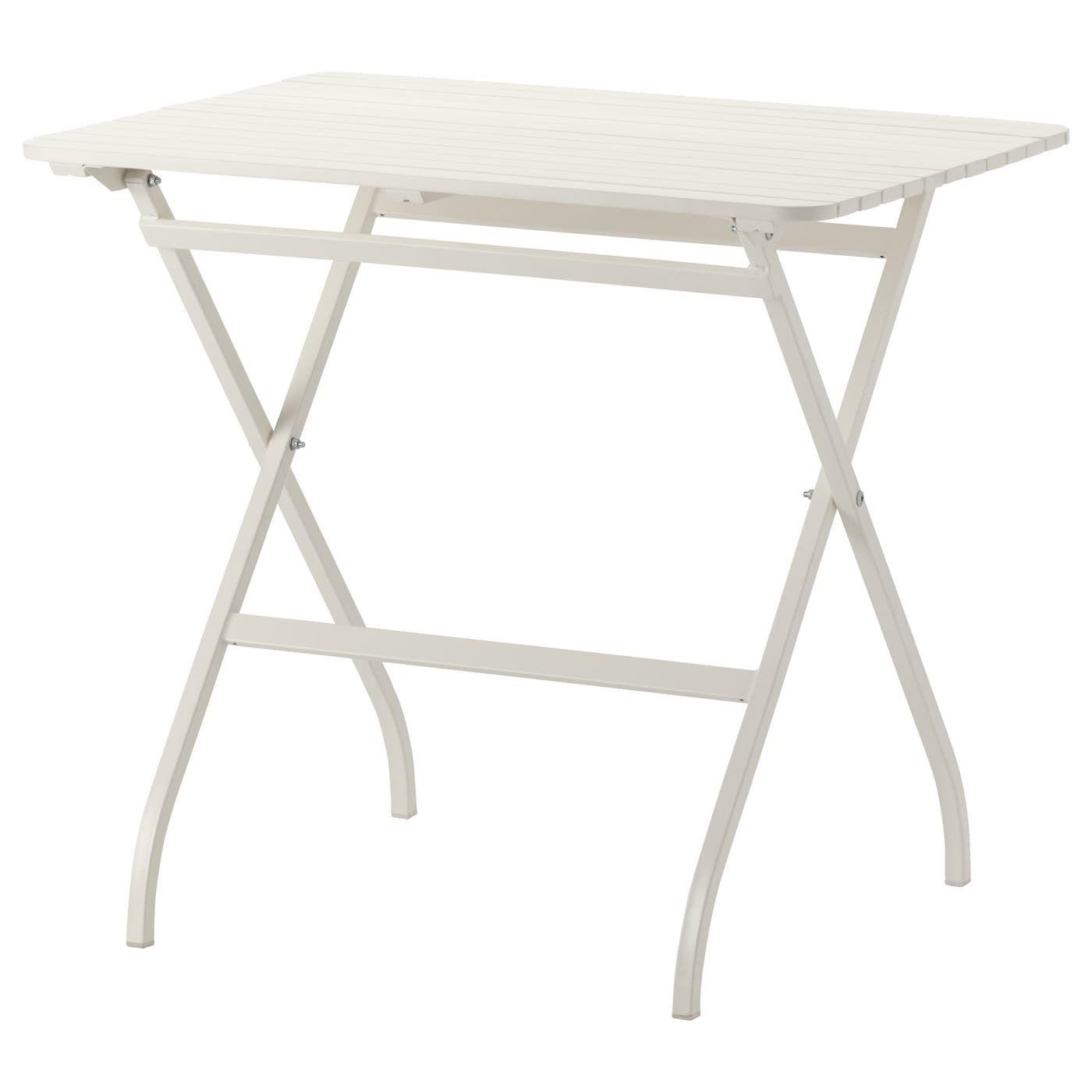 Malaro Table Outdoor Foldable White 80x62 Cm Ikea Kleiner Gartentisch Ikea Outdoor Gartenmobel