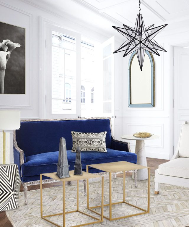 A Fresh Blue And White Living Room Design Part 49