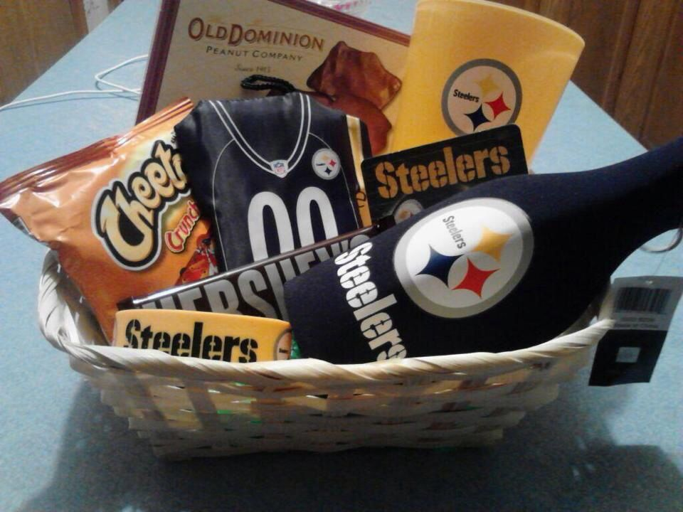 Steelers Gift Basket | ✨G I F T S✨ | Pinterest | Steelers gifts