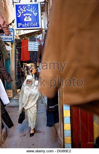 Tunez: Sfax.Medina.Souk - Stock Image