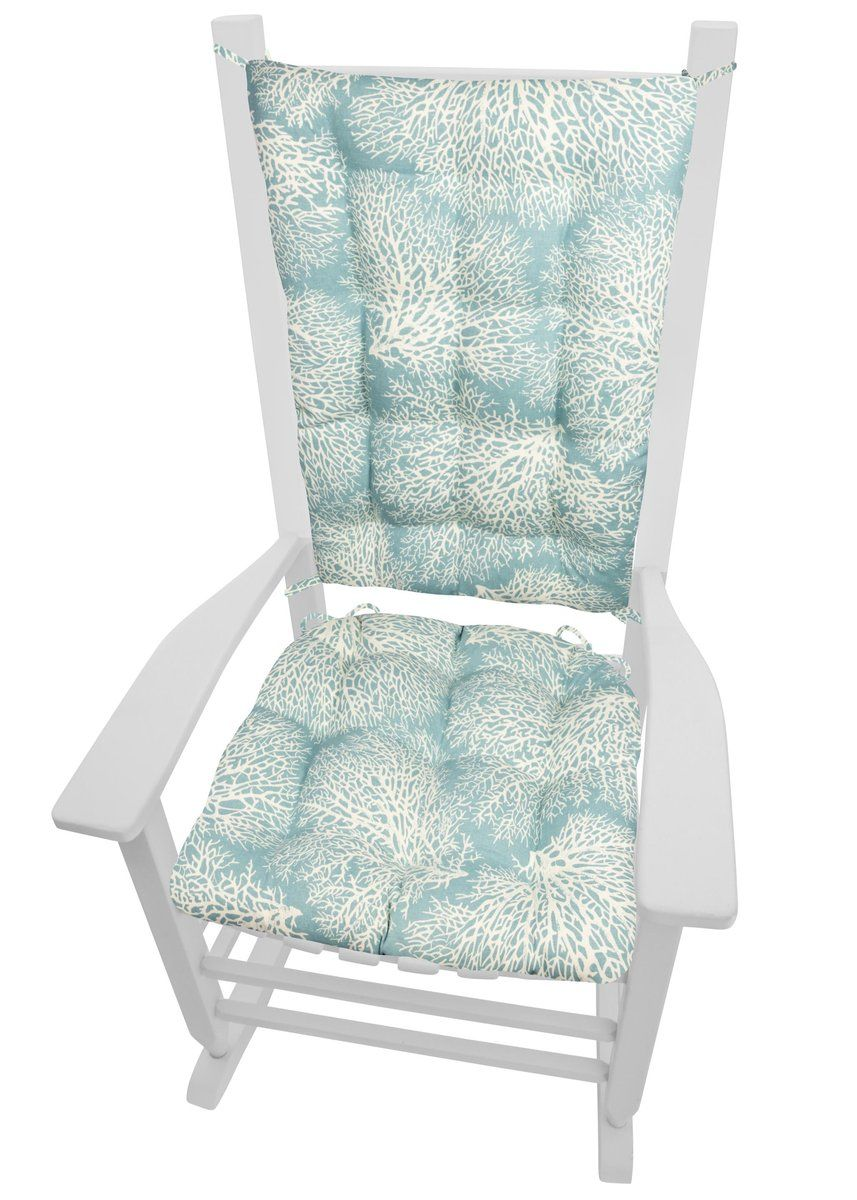 Pleasant Ariel Fan Coral Rocking Chair Cushions Latex Foam Fill Machost Co Dining Chair Design Ideas Machostcouk