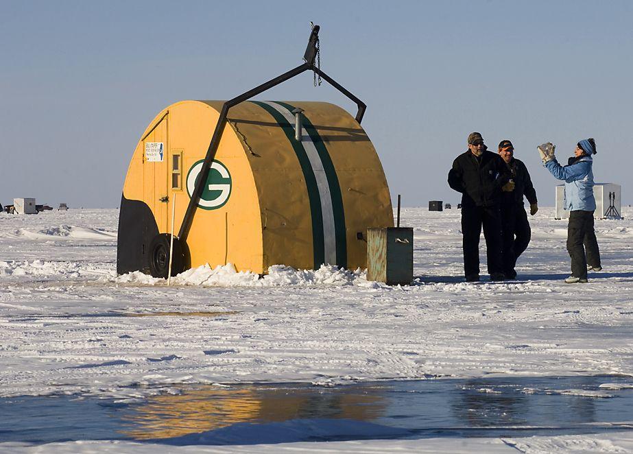Ice Fishing On Lake Winnebago Oshkosh Wi Oshkosh