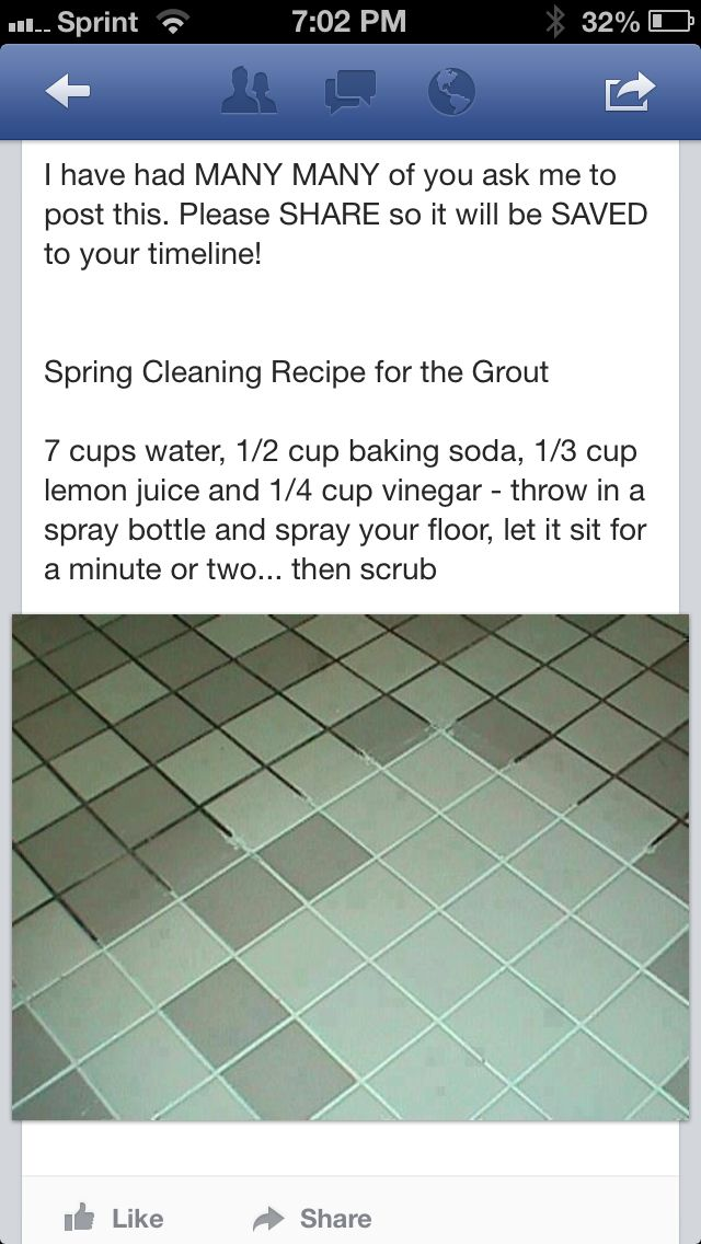 Cleaning grout- doing this RIGHT now. More