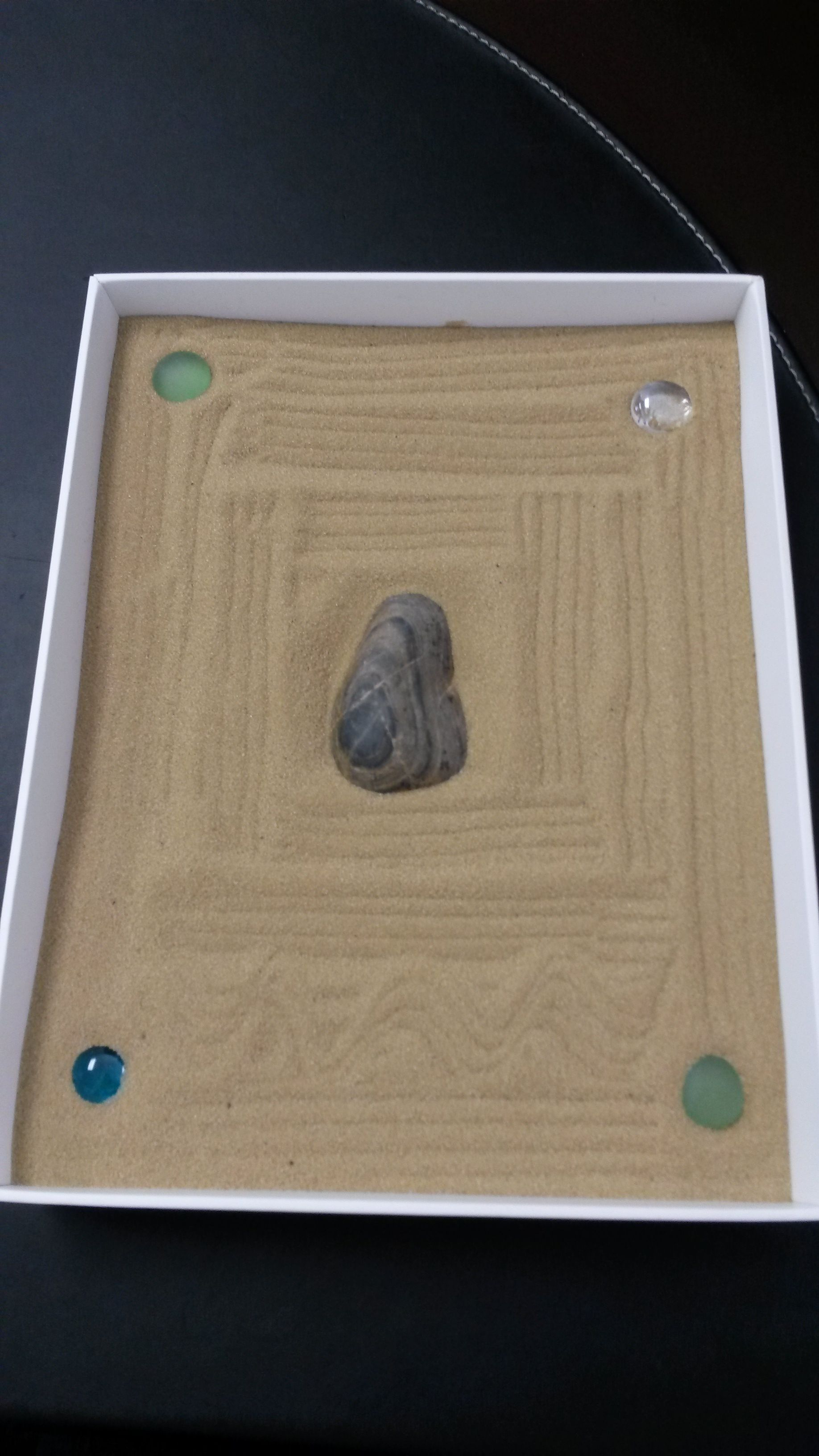 Home Made Zen Garden With Ipad Box Sand Rocks And Gems Hgmporiginal Zen Zengarden Diy Homemade Hgmpdecor Love Life