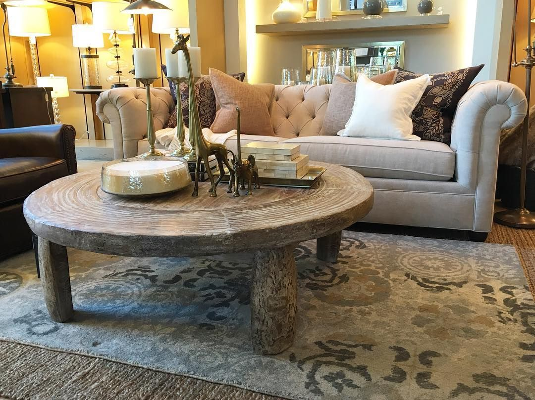 A Repurposed Wagon Wheel And Reclaimed Wood Create The Perfect Mix In Our Bullock Cart Coffee Table Potterybarnstanford Potterybarn
