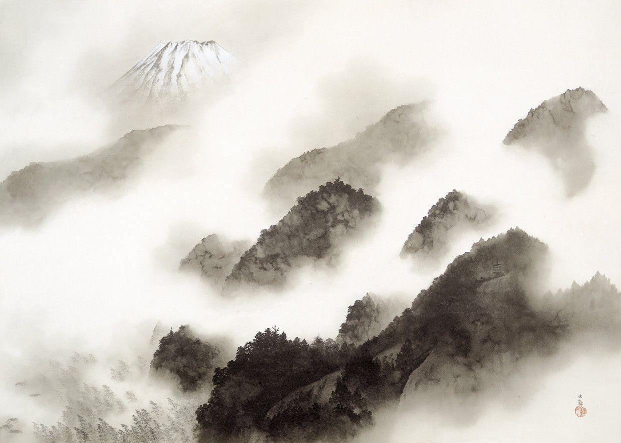 Yokoyama-Taikan-Mountain-after-a-Shower.jpg 1,243×886 ピクセル