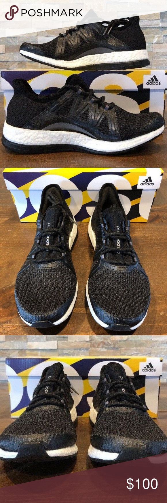 e784d1309 NEW ADIDAS Performance Womens Pureboost Xpose Blac NEW ADIDAS Performance Womens  Pureboost Xpose Black Running Shoe BB6097 New With Box Shipped Double Boxed  ...