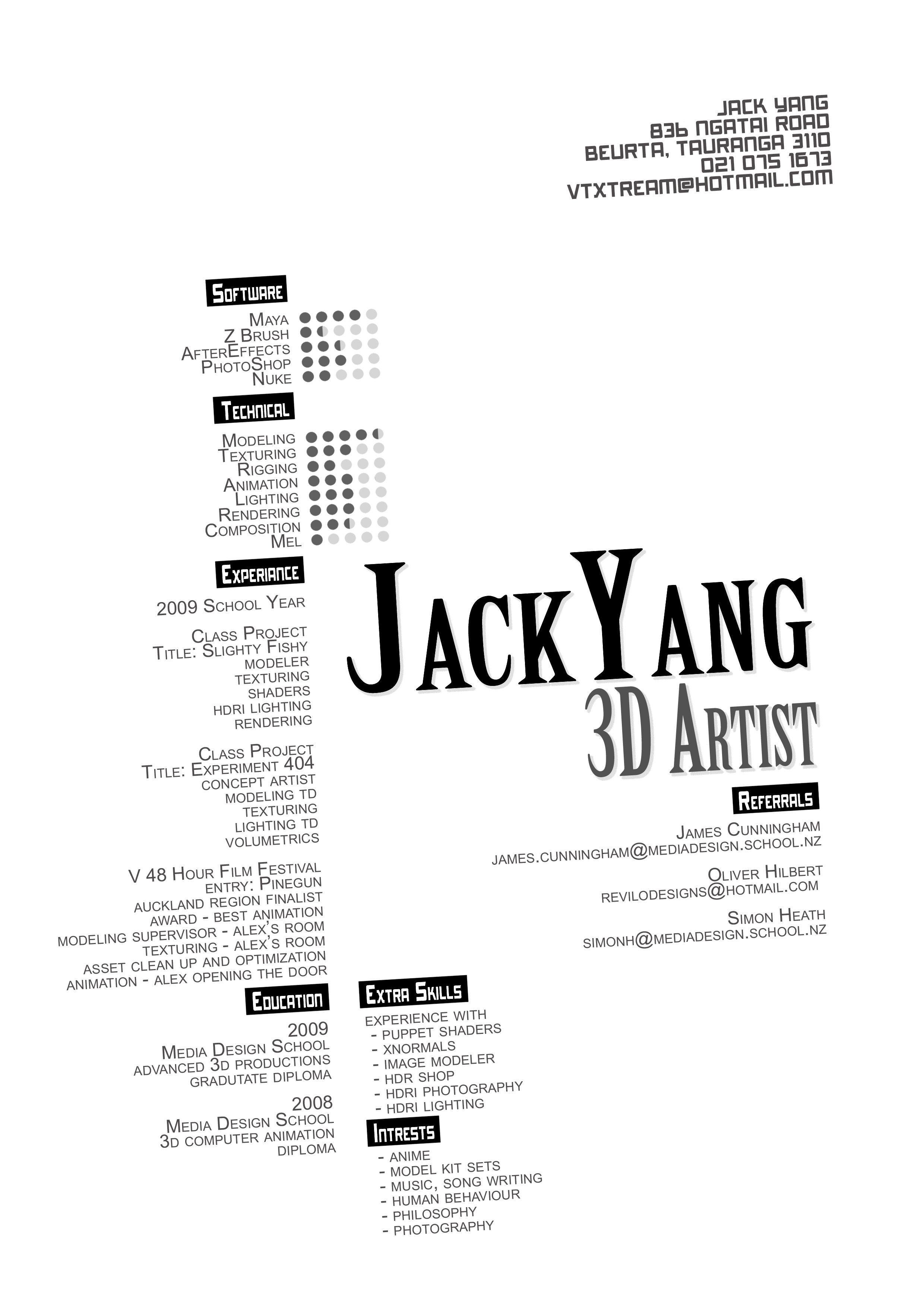 Resume Format 3d Artist In 2020 With Images Resume Design