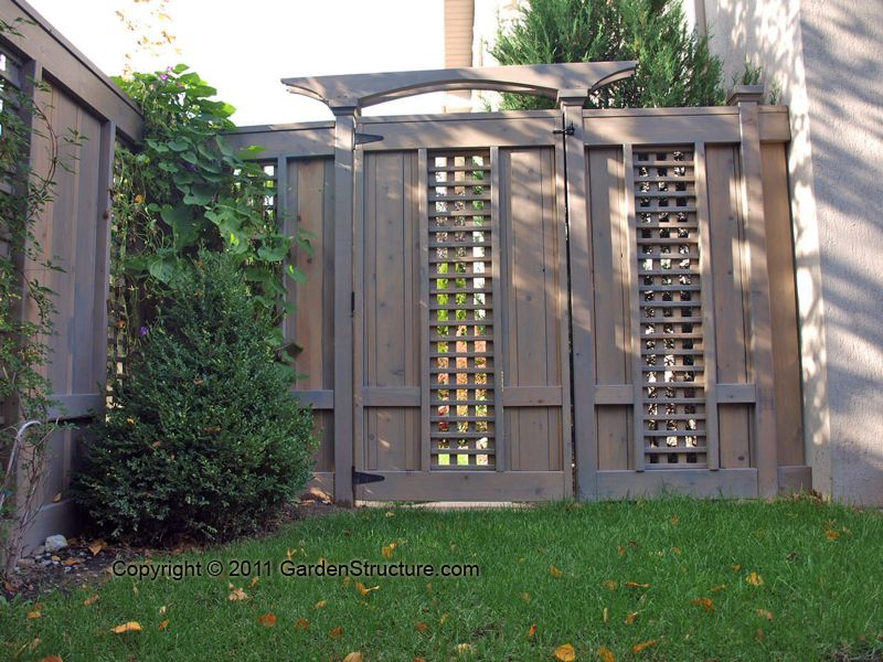 Wood fences and gates in contractor garden gates for Wood screen fence